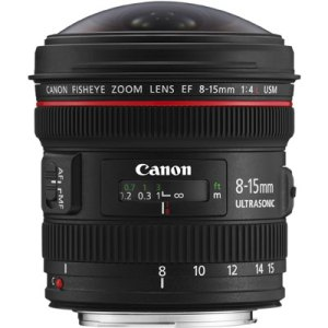 Canon EF 8-15mm f4.0 L USM Fisheye Lens