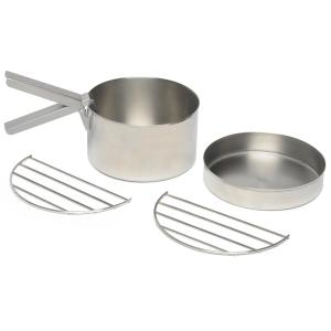 Kelly Kettle Stainless Steel Cook Set for Base Camp or Scout Kettles, SILVE/SILVE
