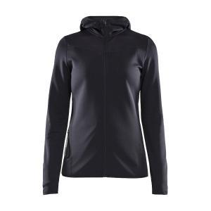 Craft Women's Eaze Sweat Hood Jacket - Black/Blk, Black/BLK