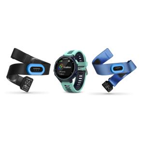Garmin Forerunner 735XT GPS Running Multi-Sport Watch Tri Bundle, Blue