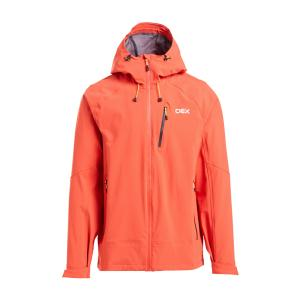 Oex Men's Aonach Waterproof Jacket - Red/Red, RED/RED