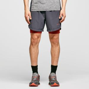 "Ronhill Men's Life 7"" Twin Shorts - Grey/Dgy, Grey/DGY"