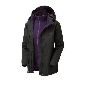 Freedomtrail Women's Versatile 3-In-1 Jacket - Black/W, Black/W