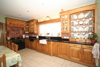 Kitchen with chestnut doors