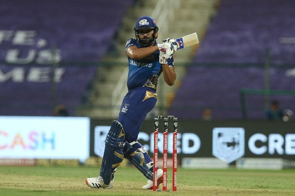 Abu Dhabi: Rohit Sharma captain of Mumbai Indians plays a shot during match 13 of season 13 of the Indian Premier League (IPL) between the Kings XI Punjab and the Mumbai Indians at the Sheikh Zayed Stadium, Abu Dhabi in the United Arab Emirates on the 1st October 2020. (Photo: BCCI/IPL)