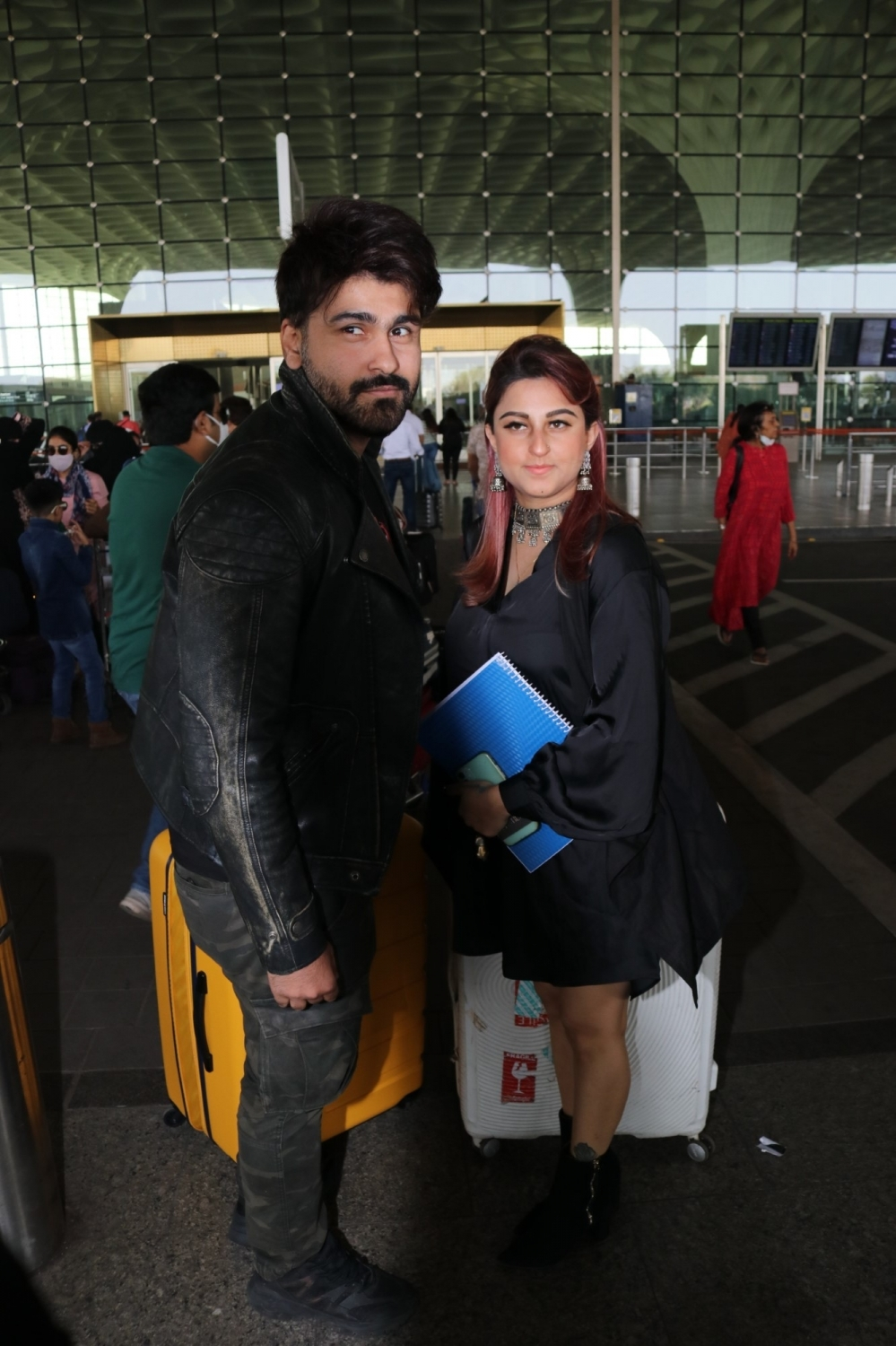 Mumbai: Aarya Babbar  seen at Airport on Saturday, 30 January 2021.(Photo:IANS/Sanjay Tiwari)