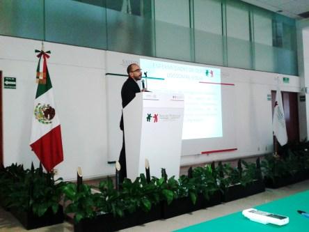 David Cervantes en el Seguro Popular, sede nacional, en la reunión anual de prestadores de servicios