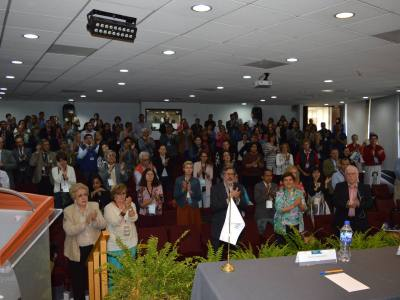Durante la Semana Global 2015 de Enfermedades Raras, David Peña animó a todos los presentes a
