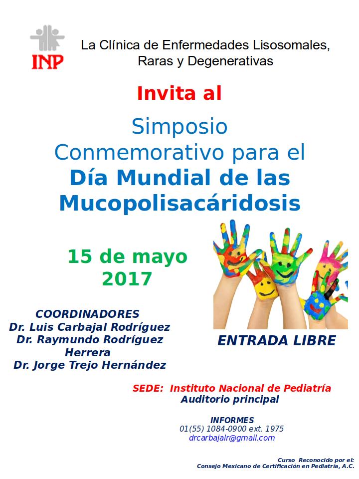 Simposio conmemorativo por el Día Mundial de las Mucopolisacaridosis 2017