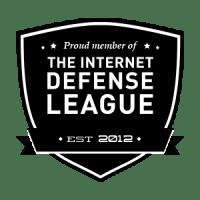 Escudo de acreditación de la Liga por la defensa de Internet