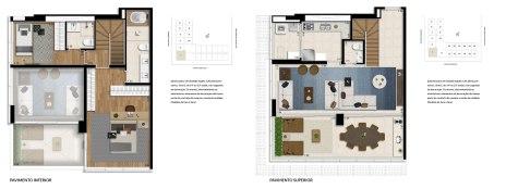 Planta Duplex com 130m²