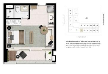 Planta Studio - 29,90m²