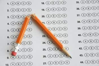 standardized test broken pencil