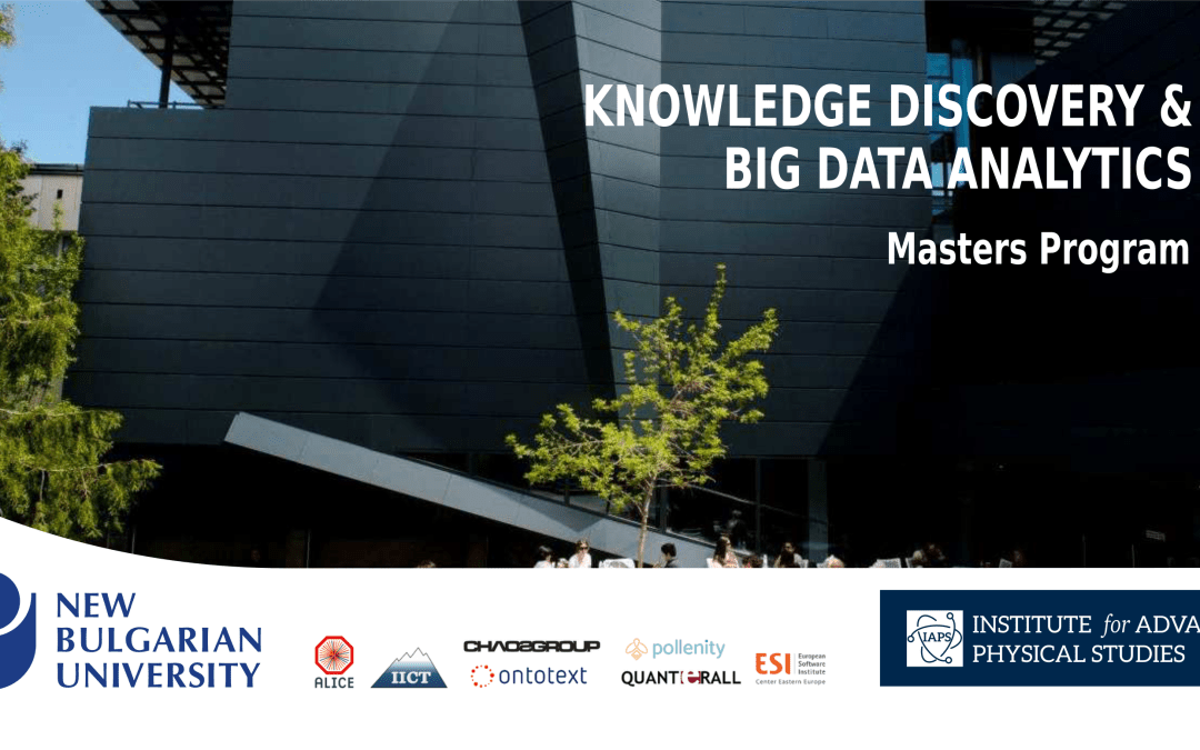"Masters program ""Knowledge Discovery and Big Data Analytics"""