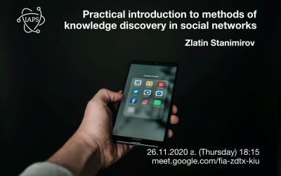 Practical introduction to methods of knowledge discovery in social networks
