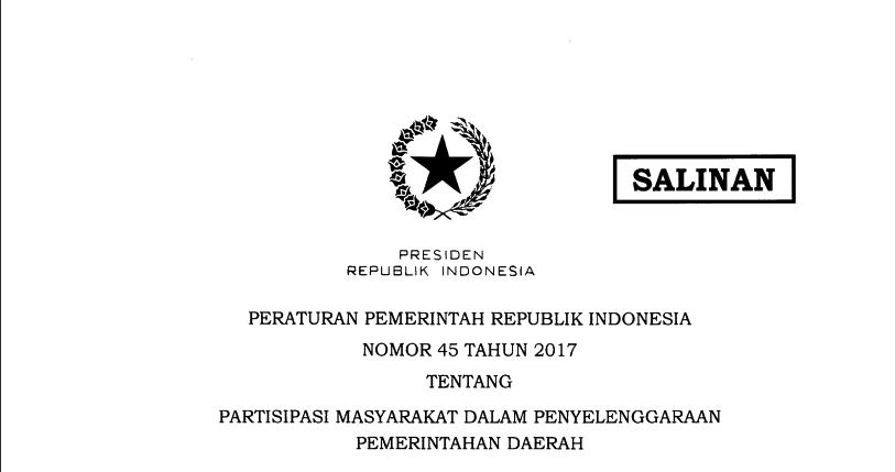 Partisipasi Masyarakat Dalam Penyelenggaraan Pemerintahan Daerah