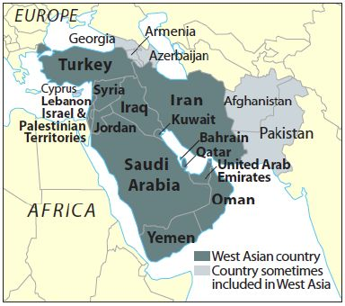 West Asia Map-min