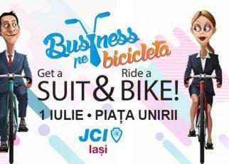 Business pe Bicicletă pe 1 iulie la Iași: Get a Suit&Ride a Bike