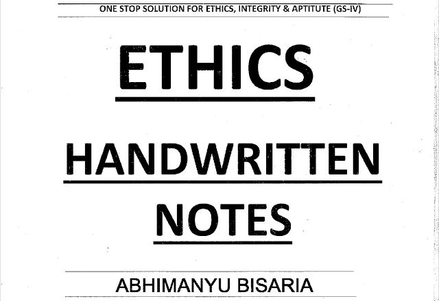 Ethixified Ethics Handwritten notes pdf