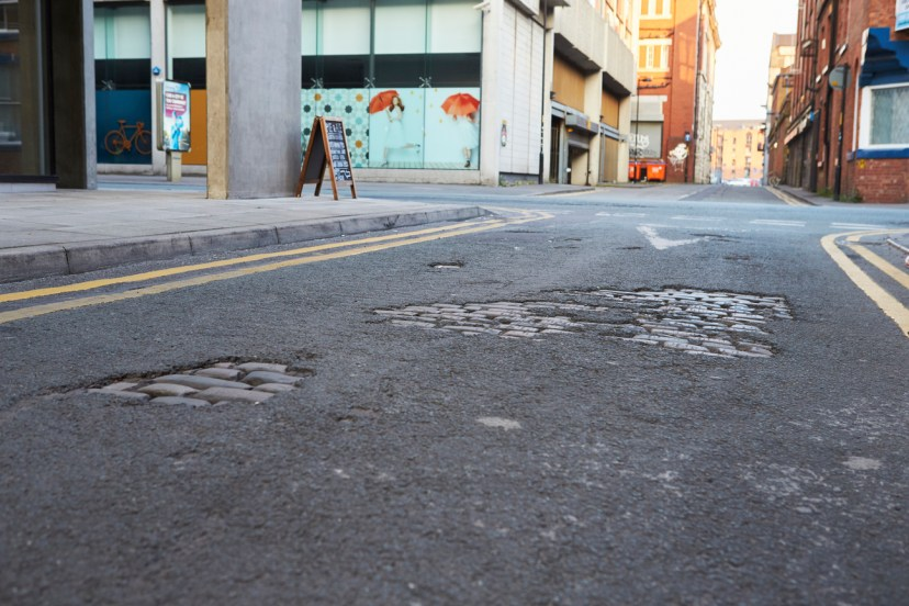 Potholes are a major issue in the spring, but also during the winter.