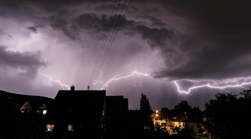Lightening is a major hazard during the spring and summer months.