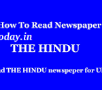 How to read Hindu Newspaper for IAS Exam