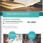 The Hindu notes monthly magazine [Pdf]