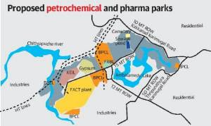 petro chemical industries map