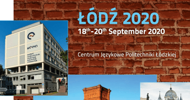 CALL for PAPERS  29th IATEFL POLAND Conference                  ŁÓDŹ, 18-20 September 2020