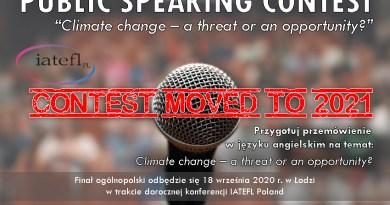 Public Speaking Contest 2020 – eliminacje w Krakowie