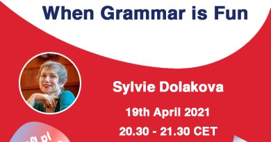 When Grammar is Fun – a webinar by Sylvie Dolakova