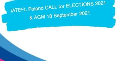 IATEFL Poland CALL for ELECTIONS 2021 & AGM 18 September 2021