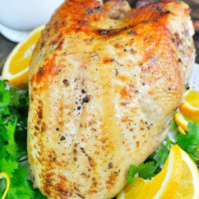 Orange & Pink Peppercorn Brined Turkey Breast