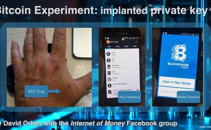 Expérience de Bitcoin avec une puce NFC : une clé privée implantée