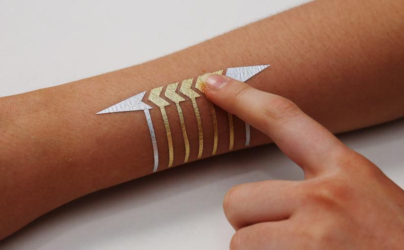Tatouage électronique provisoire DuoSkin transformant votre peau en une interface tactile