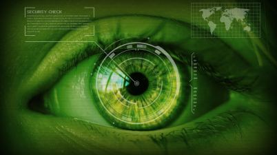 security- biometrie scan iris oeil