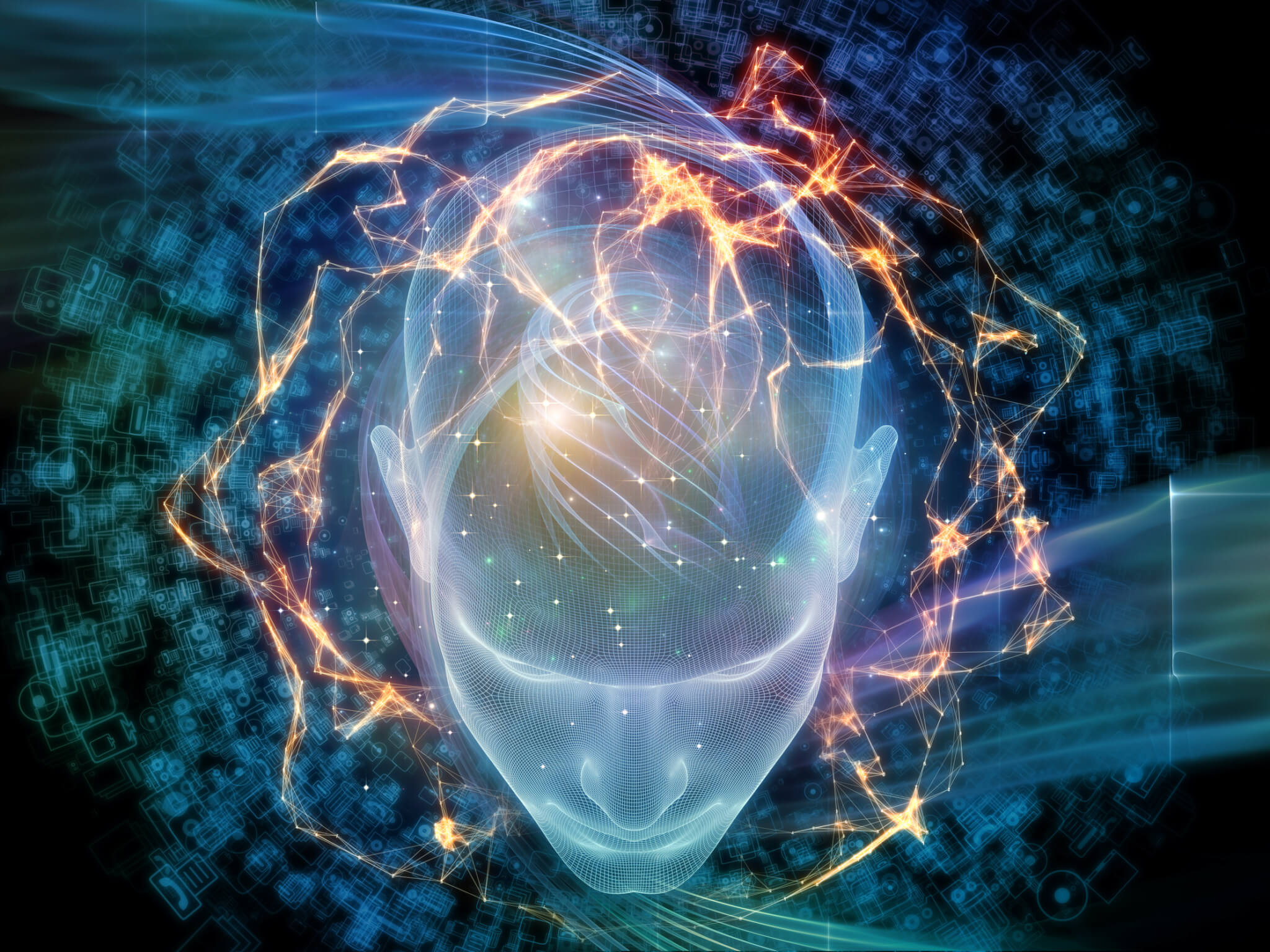 ia intelligence artificielle, Intelligence virtuelle, thème de la science, de la technologie