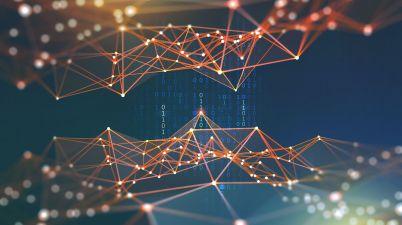 Blockchain Réseaux de neurones intelligence artificielle cyberespace code binaire