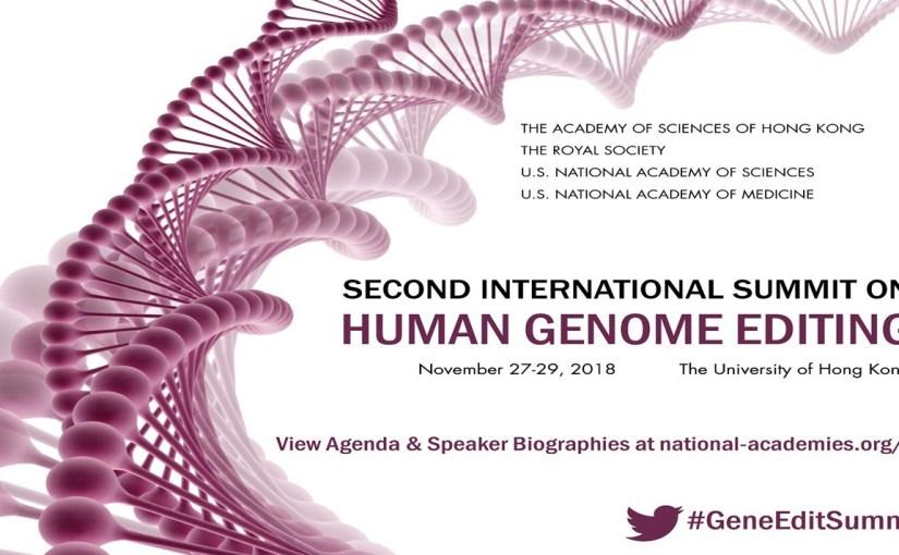 Deuxième Sommet international sur l'édition du génome humain