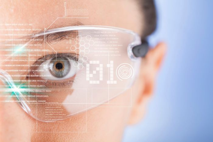 iot Internet of Things Lunettes intelligentes futuristes