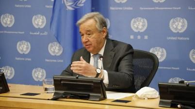 António Guterres Secrétaire général de l'ONU secrétaire général des Nations unies