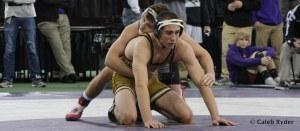 Josh Alber takes on Missouri's Zach Synon