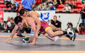 Joe Colon works on top of Tony Ramos in the U.S. Open semifinals - Wrestlersarewarriors.com Tony Rotundo