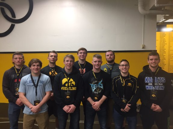FR: Heath Williamson, Max Murin, Zach Axmear, Spencer Lee, Brady Berge BR: Myles Wilson, Anthony Falbo, Jacob Warner, Aaron Costello