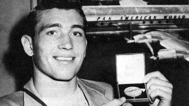 Bill Smith with medal