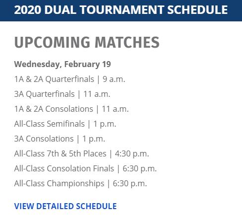 2020 State Dual Schedule