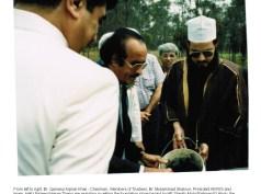 Foundation Stone being laid by Ambassador KSA 1990