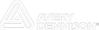 Avery Dennison logo negative white