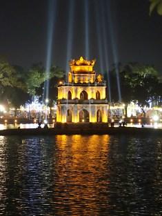 Temple of the lady Buddha, Hoan Kiem Lake, Hanoi, Vietnam