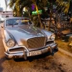 1950s Studebaker Hawk parked in front of La Fontana